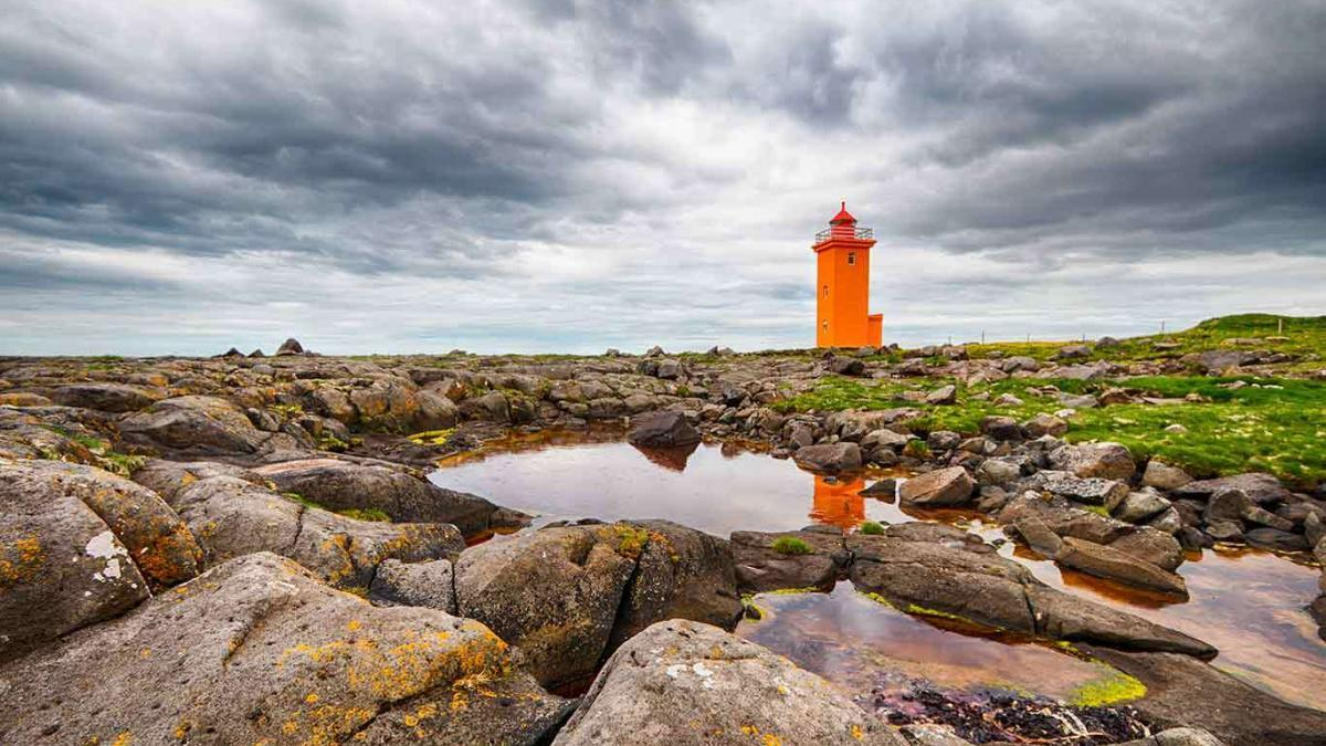 The Picturesque Lighthouse at Stafnes Iceland