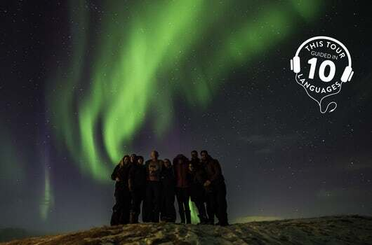 Northern Lights and Stars tour in Iceland is guided in 10 languages.
