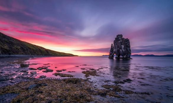 Hvítserkur in the north of Iceland. Photo by Paulo Pereira who has been photographing Iceland in winter and summer.