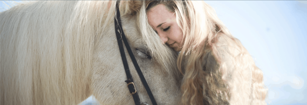 Girl with an Icelandic horse